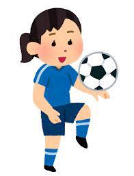 リフティングのイラスト(女子サッカー) | かわいいフリー素材集 いらすとや